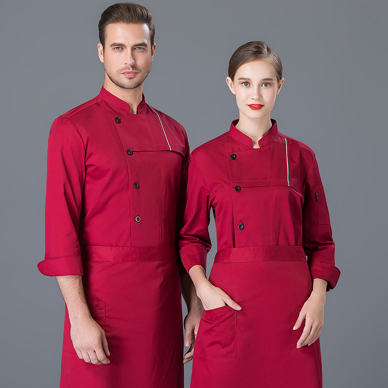 French pastry uniform Korean cuisine sushi cooking chef work suit autumn winter long sleeve Italian cake suit