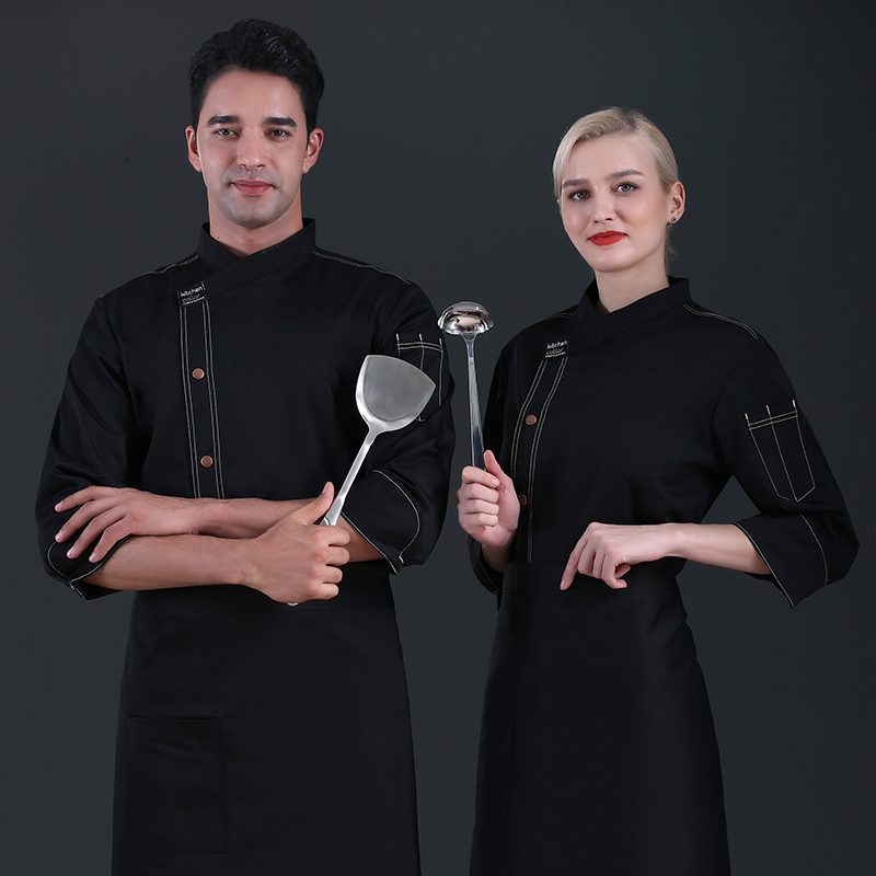 Kitchen chefs clothes long sleeved cake makers work clothes Patterners uniform Bakers work clothes baking clothes pastry clothes