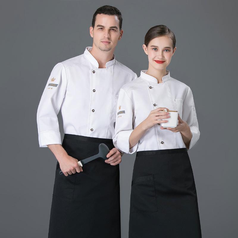 法式面包师制服寿司汉堡服酒店厨师工作服秋冬长袖糕点师工装蛋糕