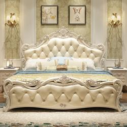欧式床双人床 主卧现代简约公主床1.5m1.8米婚床奢华风格卧室家具