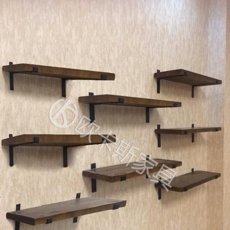 简约鞋店货架展柜实木上墙鞋架鞋货架壁挂式童鞋架鞋托包包架帽架图片
