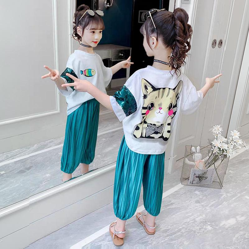 51女童洋气夏装网红套装2021年新款韩版童装儿童夏季中大童女孩时
