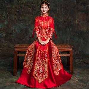 秀禾服新娘敬酒服旗袍2020新款结婚中式礼服古装嫁衣秀和