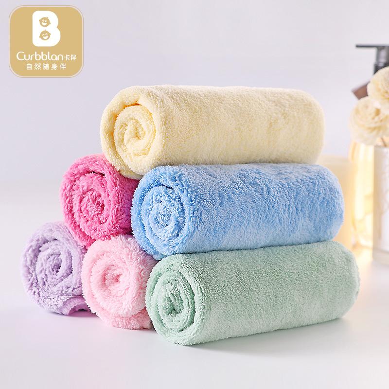 卡伴毛巾宝宝口水巾柔软婴儿洗脸巾儿童小方巾手帕新生儿用品