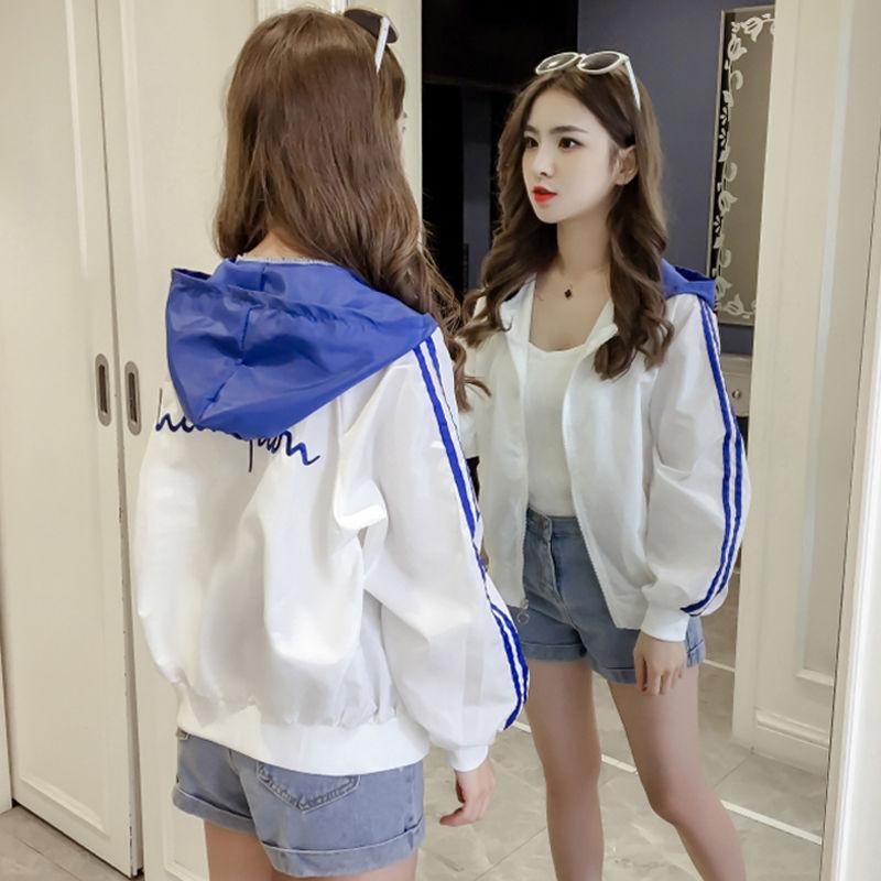 防晒衣女短款2021夏季新款韩版宽松学生防晒服百搭开衫棒球外套薄