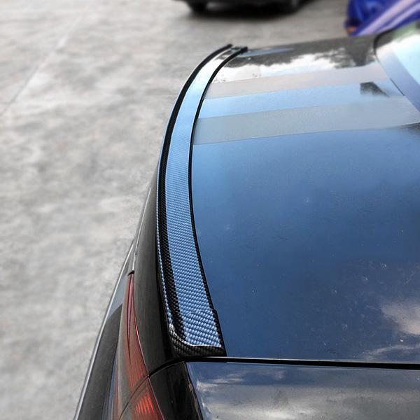 汽车尾翼改装顶翼通用三厢免打孔碳纤维小尾翼两厢车碳纤纹大尾翼