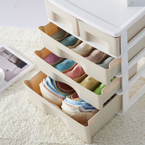 Van Gogh transparent underwear storage box Plastic wardrobe drawer style split underwear socks bra storage finishing Box