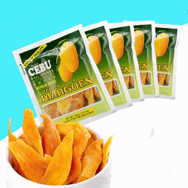 菲律宾进口宿雾芒果干500g包邮100gX5包水果干蜜饯果干果脯零食