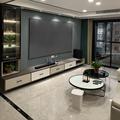 黑钻画框投影仪幕布激光电视4K家用100寸120超窄边框黑晶金属抗光