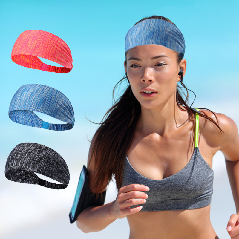 Sports sweat absorbing headband men Korea wash face wide brimmed scarf women running Yoga simple hair band fitness versatile headwear