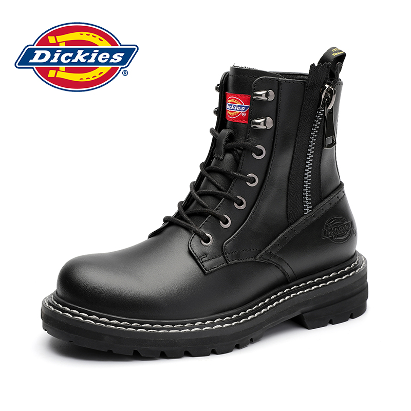 Dickies high top Martin boots male British style 2020 new motorcycle tooling boots black winter men's shoes