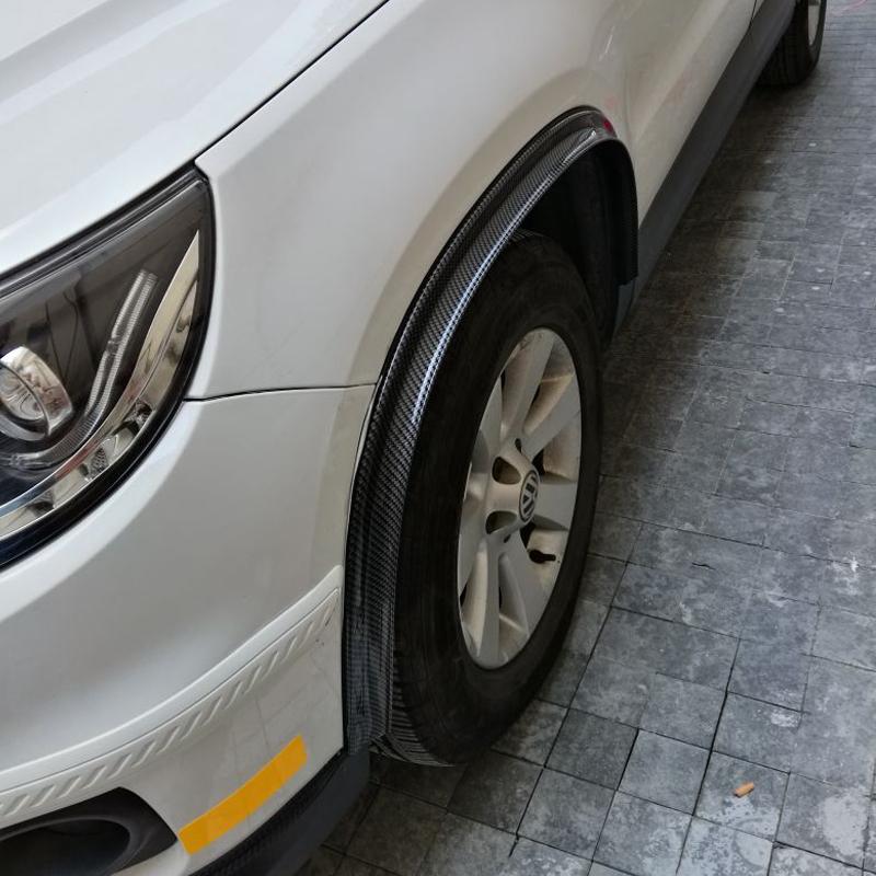 汽车轮眉防撞条通用改装橡胶轮眉加宽碳纤维纹装饰轮眉挡泥胶条
