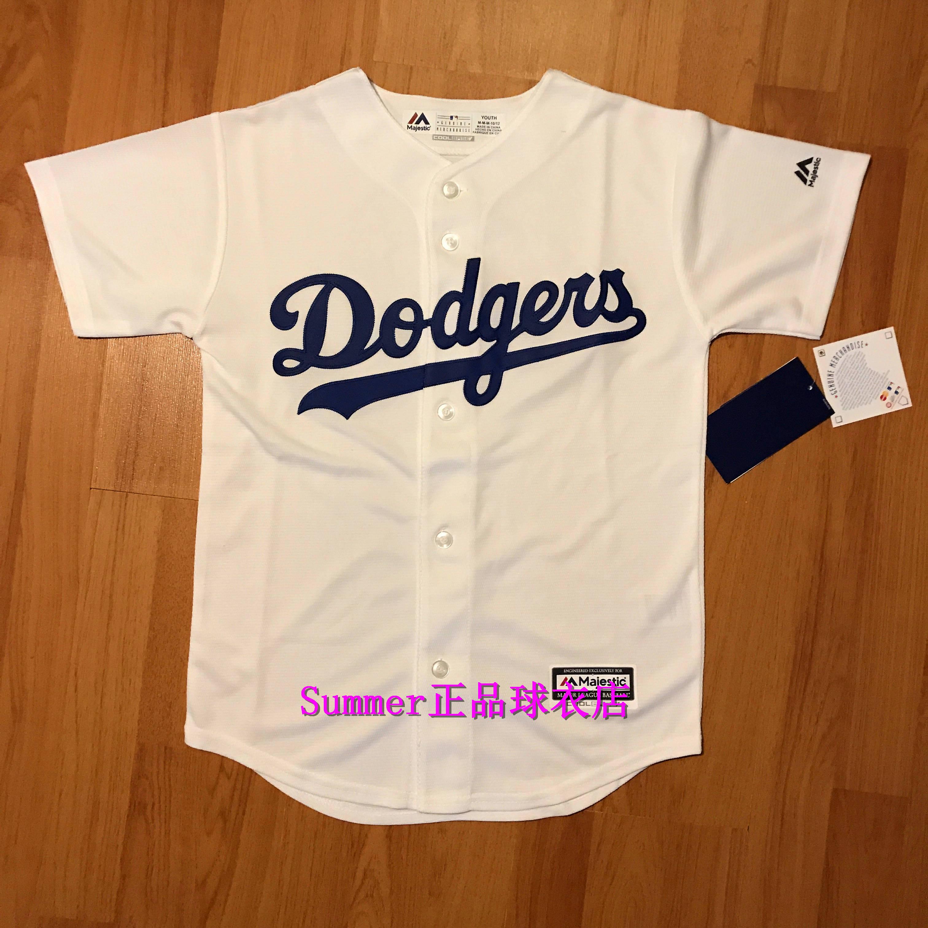 【 оригинал 】MLB Лос-Анджелес Додж голубой белый молодежный версия детские МОЛОДЕЖНАЯ майка