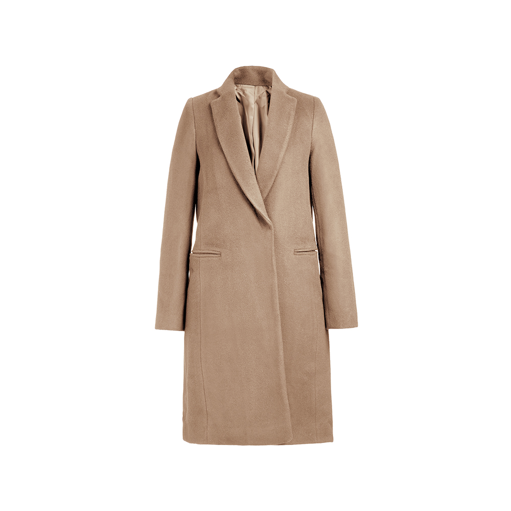 Woollen coat womens middle and long style fall / winter 2020 casual temperament one word large pocket versatile wool coat