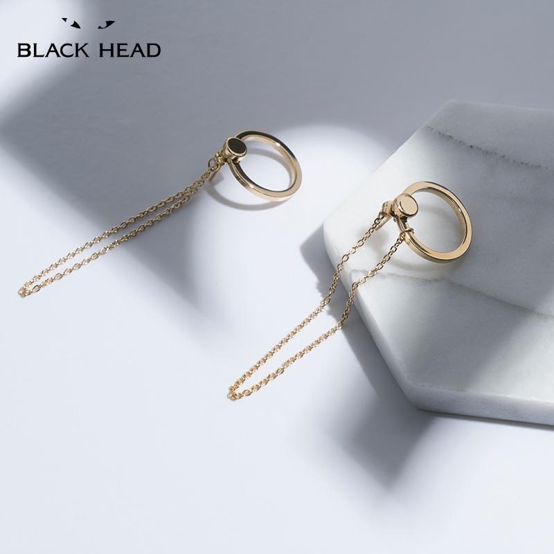 black head/黑头TOKII X BLACKHEAD流行饰品圆形链条耳线耳钉