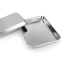 Lensurn Special thick food grade 304 stainless steel medical plate rectangular pallet plate dining plate Flat plate