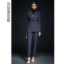 Ruinuo suit female temperament new casual business interview professional dress commuter smart suit