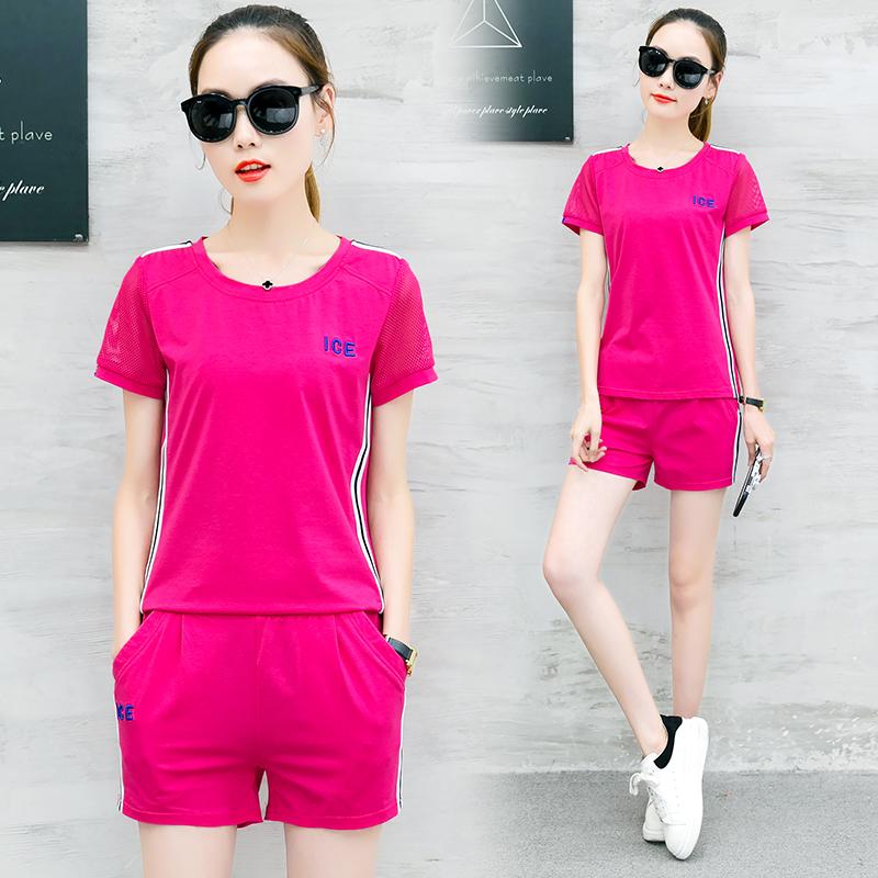 夏季短袖短裤运动套装女装夏天2018新款韩版潮学生时尚休闲两件套