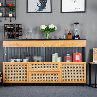 拓木者实木餐边柜现代简约厨房储物柜餐厅茶水柜日式客厅酒柜整装