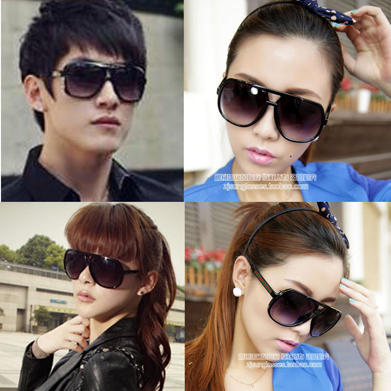 New style big frame sunglasses mens and womens Sunglasses retro glasses gradient polarized toad mirror driving mirror