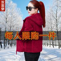 卫衣女2019秋冬季新款女装大码宽松加绒加厚外套女长袖连帽抓绒衣
