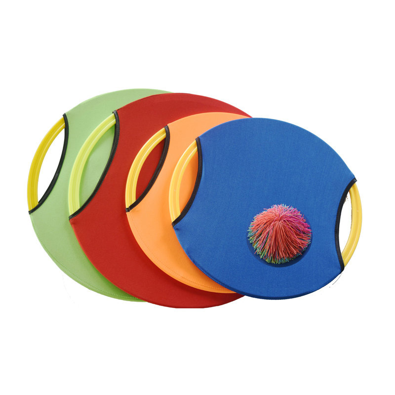 Childrens bouncing circle kindergarten throwing and catching ball outdoor parent-child 61 children Frisbee Toy experience training bouncing racket