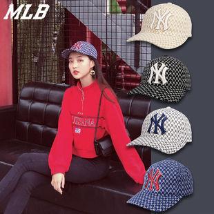 潮流NY帽子男 MLB棒球帽洋基队19新款 字母老花时尚 女遮阳帽鸭舌帽