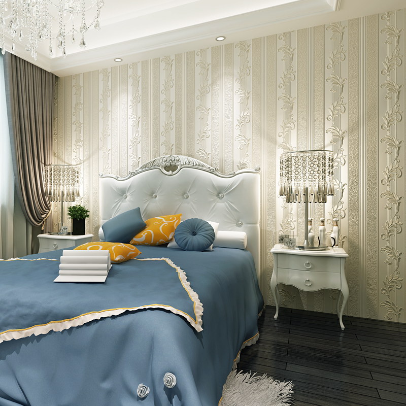 Без Прошитая ткань обои проста поколение Европейский 3D стерео полосатый принт Обои уютная спальня гостиная ТВ фон обои