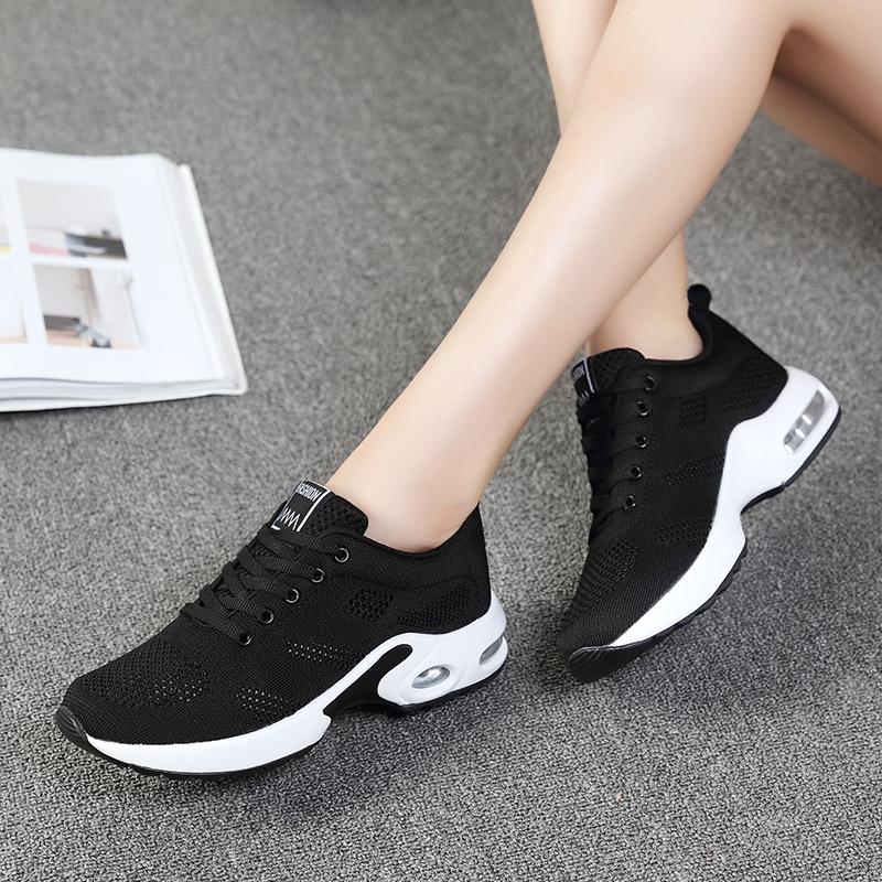 女装波鞋旅游潮鞋子百搭韩版2019新款夏天黑色透气休闲网鞋运动鞋