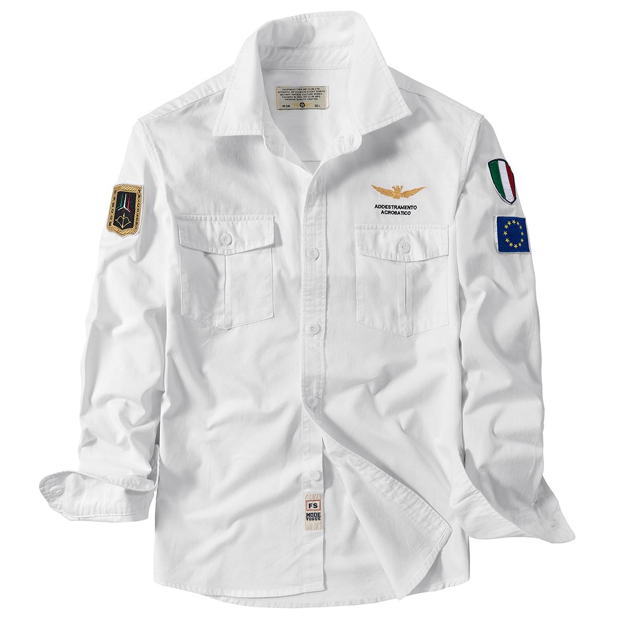 VIP秋季新款长袖衬衫男休闲青年男士衬衣外套工装寸衫上衣服军装