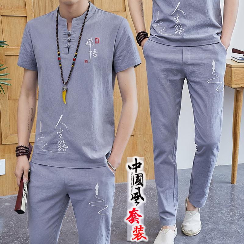 中国风套装男夏季贵吗