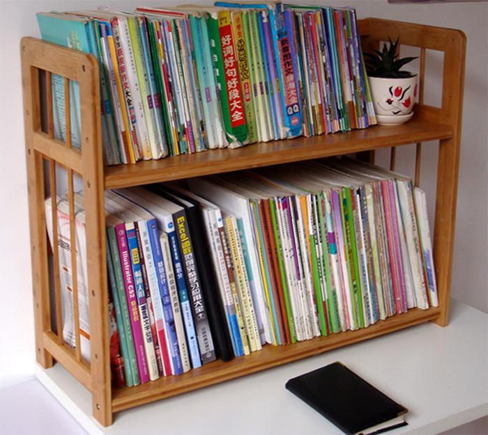简约两层桌面学生简易桌上小书架限时2件3折