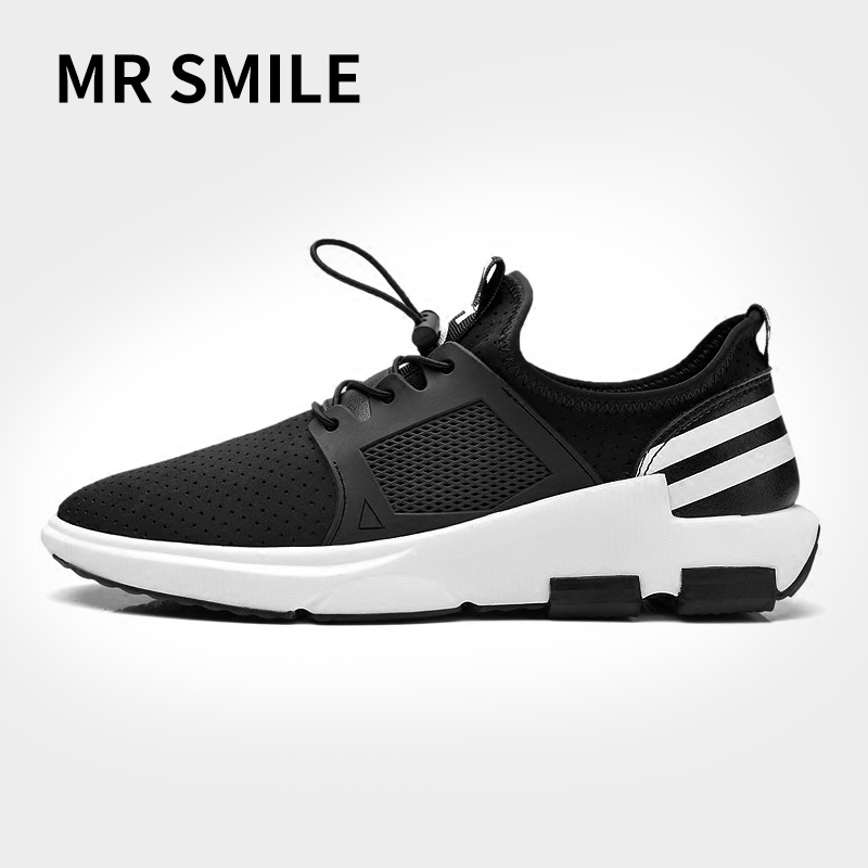 微笑先生新款�\�有�透�獬毙��n版�p便百搭跑步鞋休�e鞋�W鞋