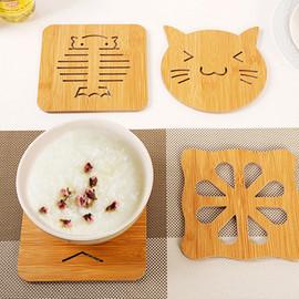 创意镂空木质餐垫杯垫防水日式厨房隔热垫防滑锅垫简约餐桌碗垫子
