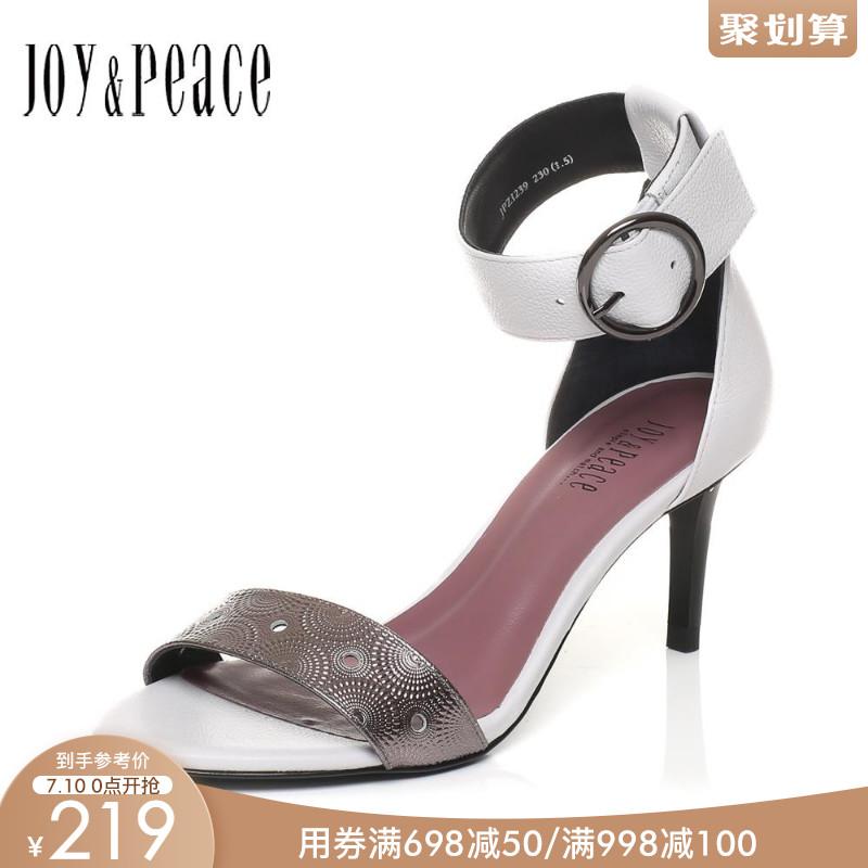 JoyPeace真美诗夏季香港专柜同款细跟女一字带凉鞋ZI239BL7