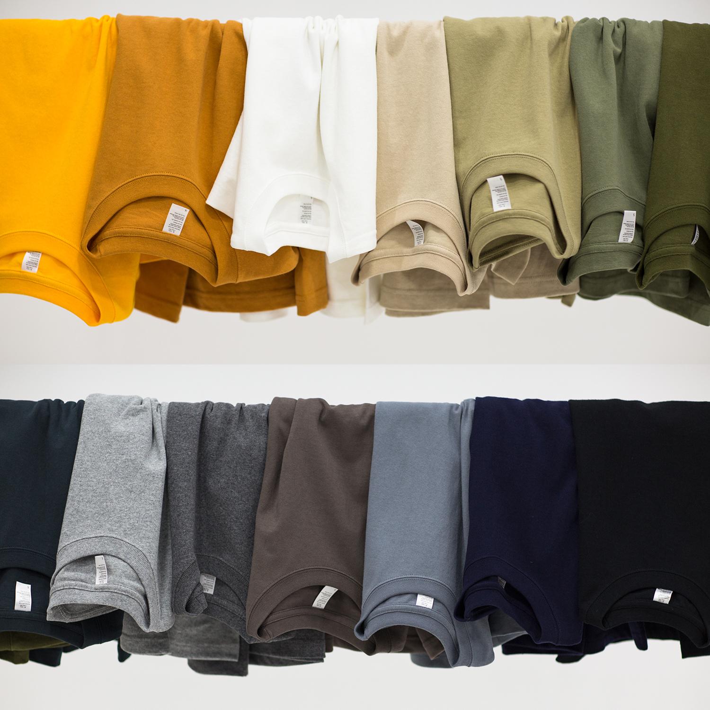 11-28新券纯棉t恤男重磅圆领宽松厚实短袖纯色T美式夏季白半袖上衣打底衫