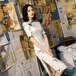 改良版旗袍年轻款少女2020新复古中国风气质中长款新式旗袍连衣裙