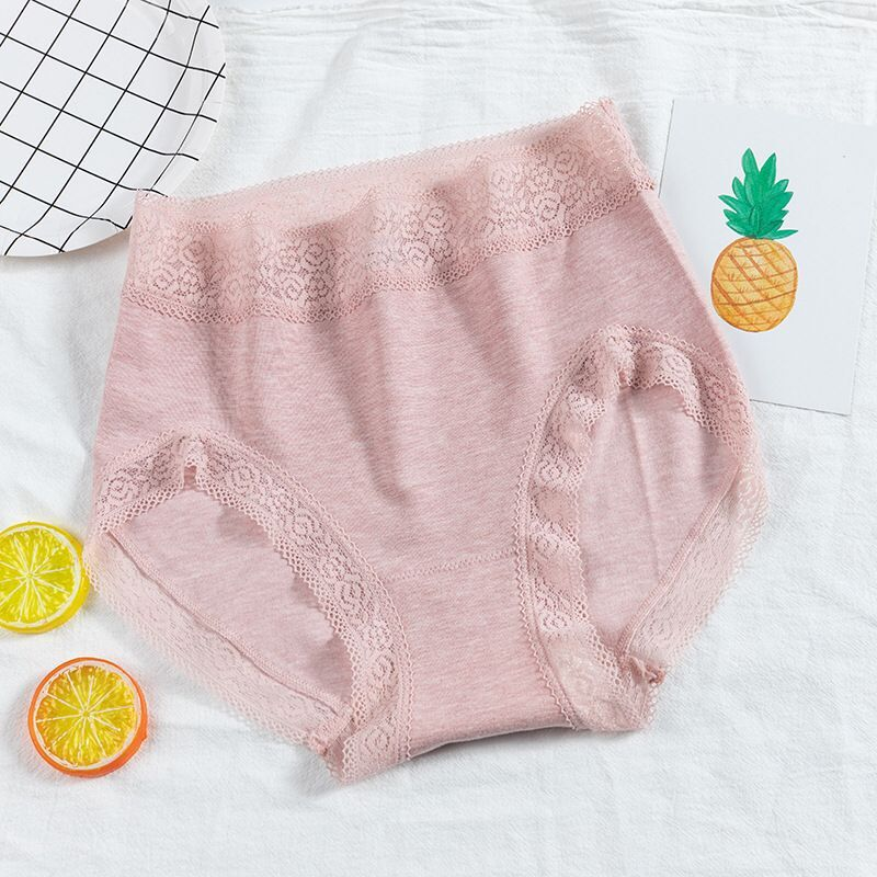 女士品质内裤无缝木代尔内饰中高腰三角短裤美体包臀大码内裤