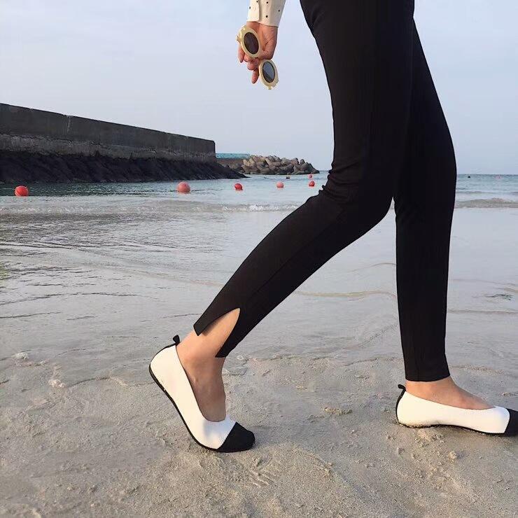 秋新款休闲长裤罗马布棉修身立体设计侧开叉铅笔小脚裤女