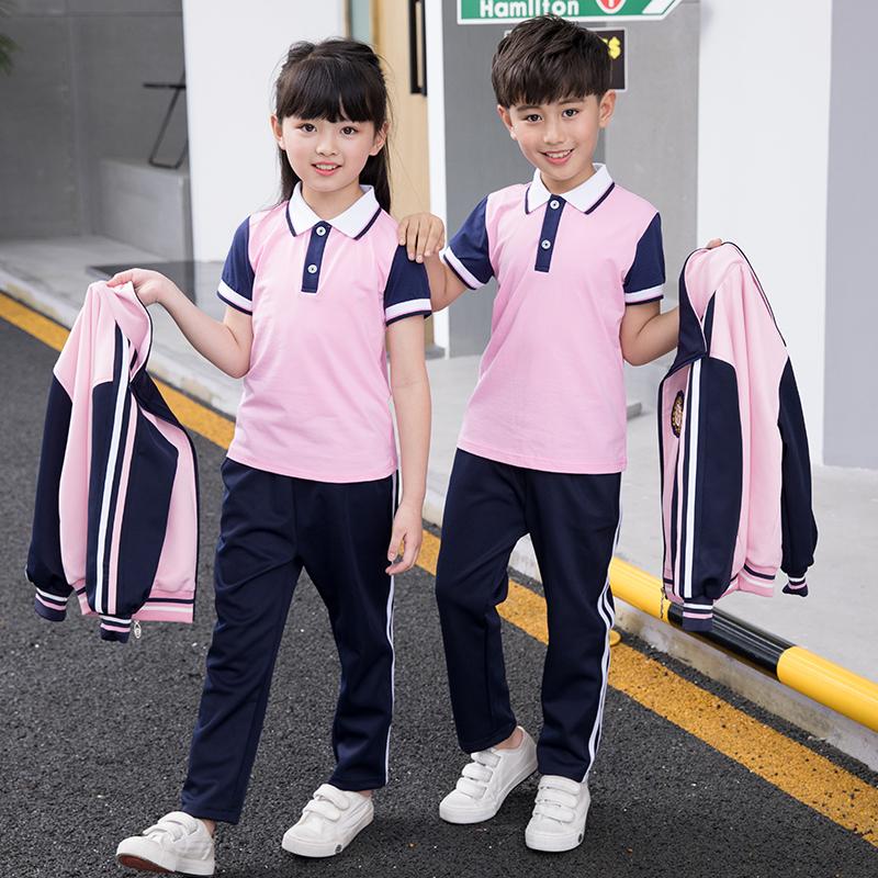校服套装秋季小学生运动夏装三件套儿童班服学院幼儿园园服春秋装