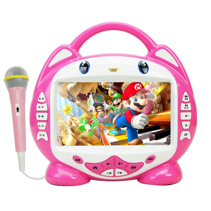 兒童早教機7寸視頻故事機可充電下載卡啦OK唱歌學習機寶寶0~3~6歲