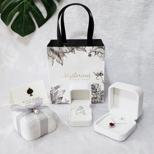 七夕情人节高档绒项链手镯耳钉表戒指首饰品礼物求婚小包装空盒子