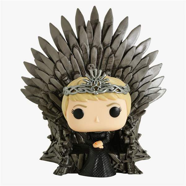 Hot selling domestic Funko pop 73 ice and fire song power game cersei throne hand made model