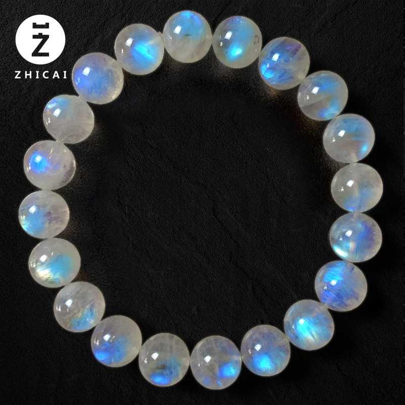 Single circle multi circle Moonstone bracelet, female hand chain, ice seed, blue light, Moonlight crystal fashion jewelry gift