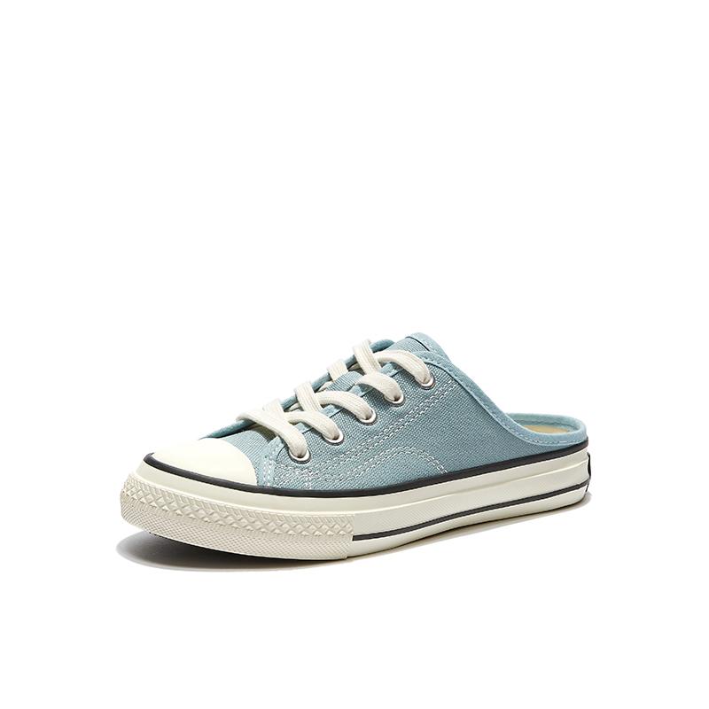 热风半拖鞋包头外穿百搭春季帆布鞋买后点评