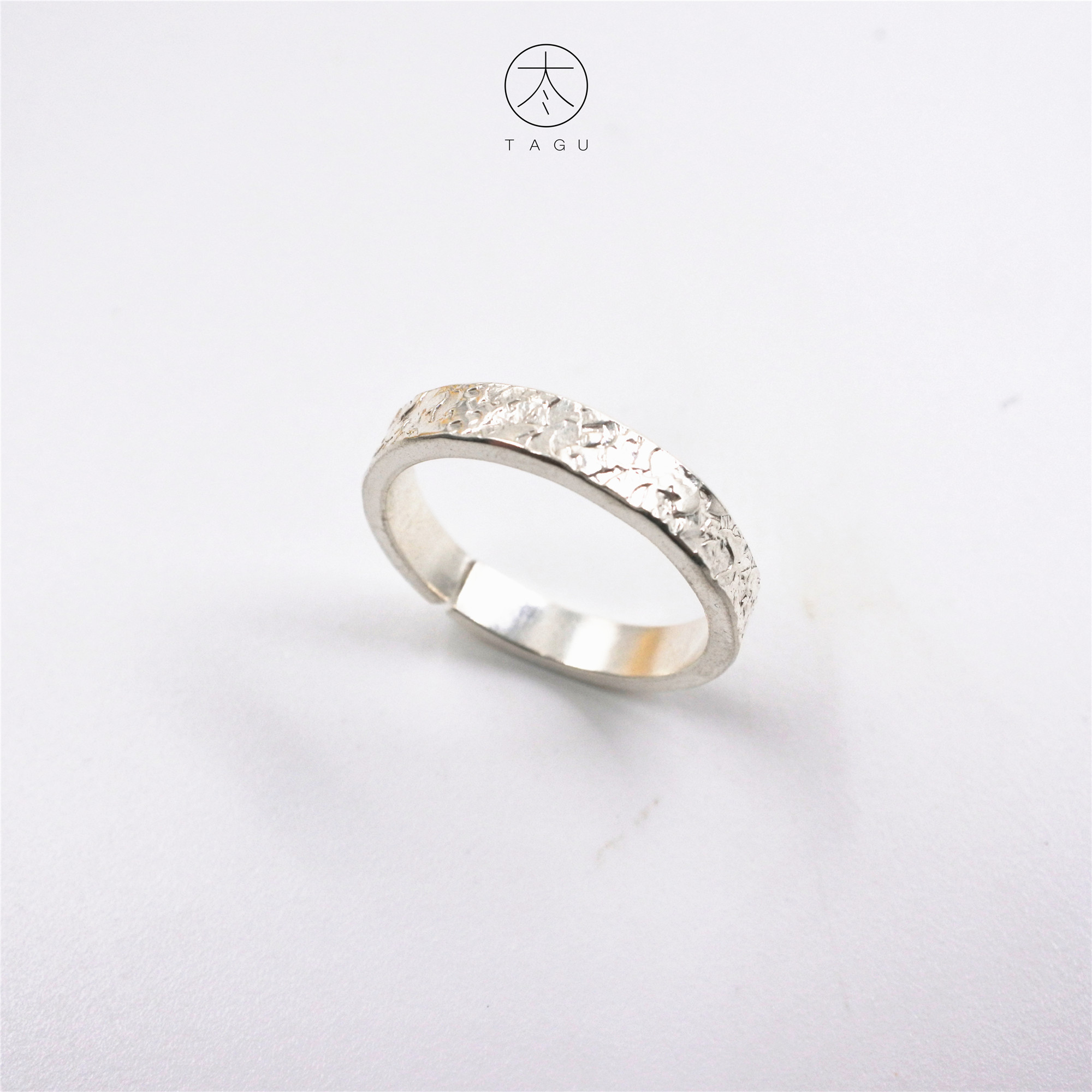 Jinggu independent silver design brand Dali pure hand creative silver summer solstice ring s950 S925