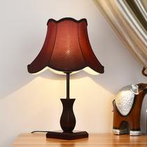 现代中式新古典美式简约台灯卧室床头灯创意婚庆调光暖光木质台灯