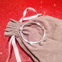 s925纯银电镀转运珠铃铛推拉手镯女韩版小清新百搭气质可调节手环
