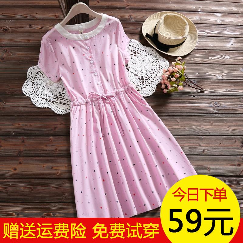 女童夏季大码短袖连衣裙中大童女装夏装12-15岁中小学生宽松裙子