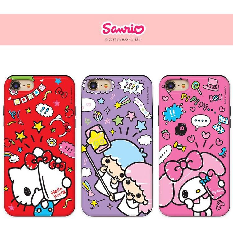 韩国采购Sanrio 三星Note8手机壳正品插卡防摔S8可爱双子星麦乐迪